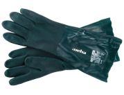 Gumové rukavice v.10 400 mm zelené